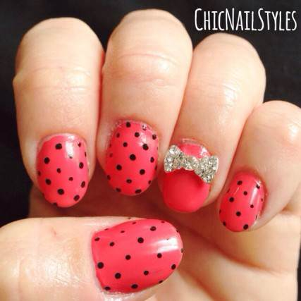 I am loving these tiny black polka dots lately...simple but cute!