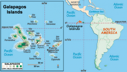 I think most people fly into Ecuador to reach these rather remote islands...