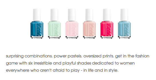 Here is what Essie has to say about her new collection!