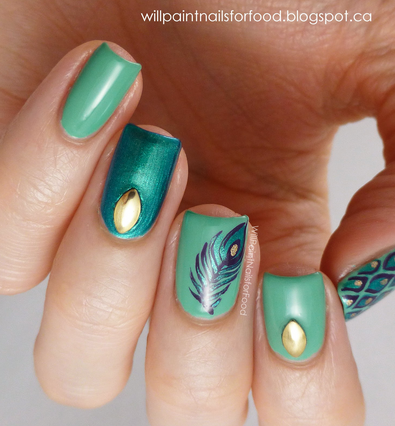 Will Paint Nails For Food is amazing. I love this peacock feather mani, but if you aren't quite on par with her techniques, the nail tattoo's I listed below will look equally awesome!