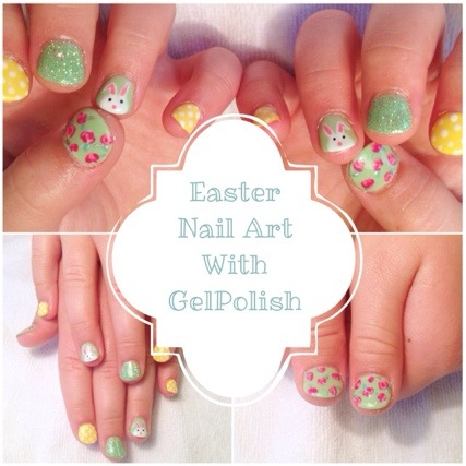 Easter nail art with gel polish