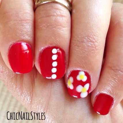 I love, love, love red nails!