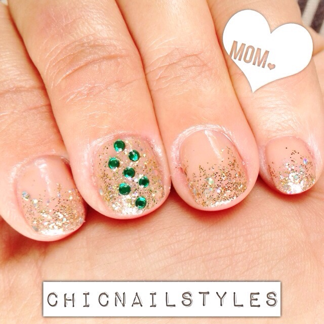 mothers day nails may nails emerald nails