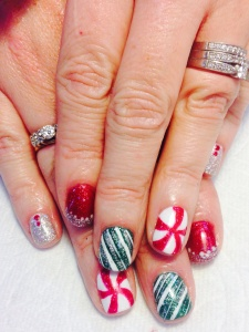 Christmas Candy Nail Art!